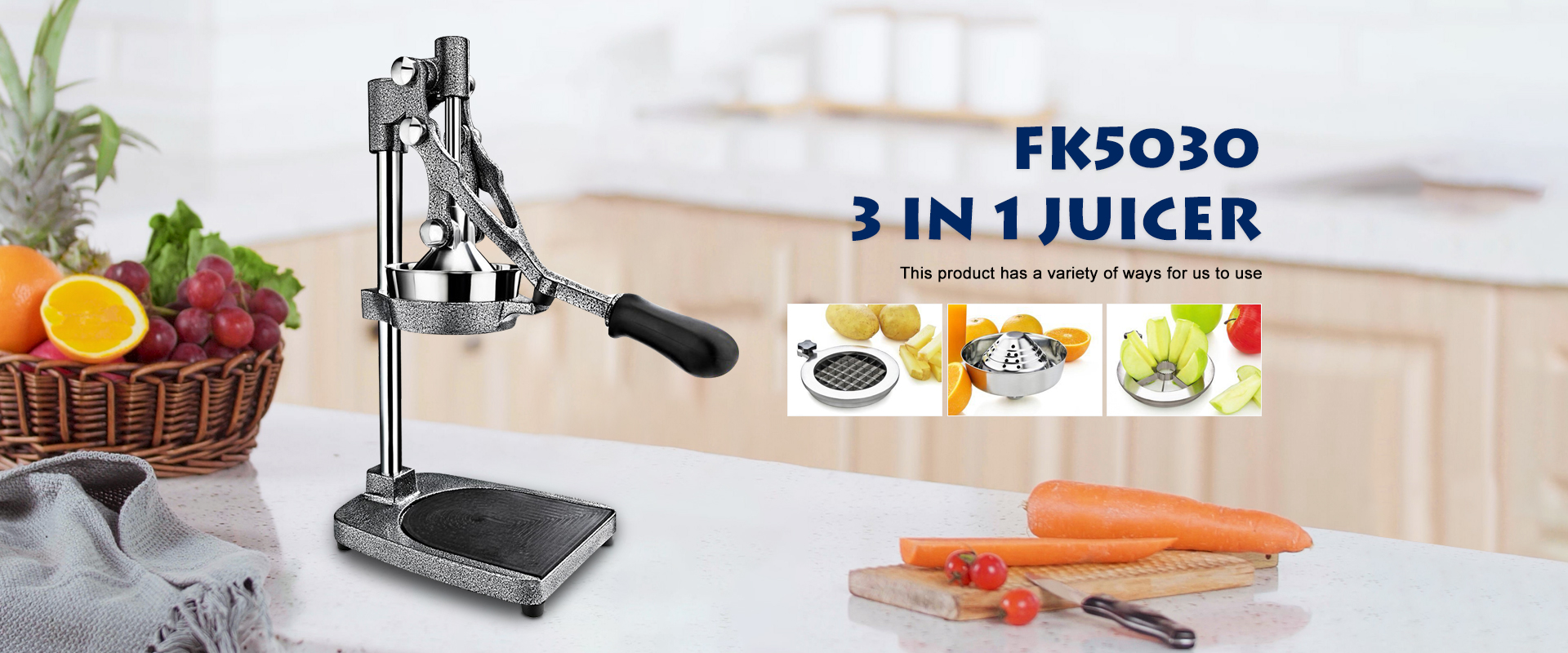 Hand pressure juicer