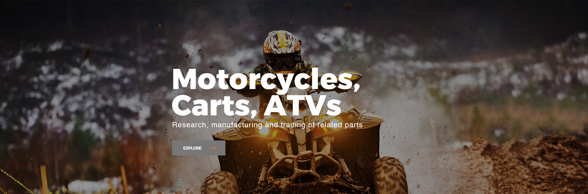 motorcycles, carts, ATVs